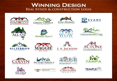 create Real Estate or Contruction logo with high quality just