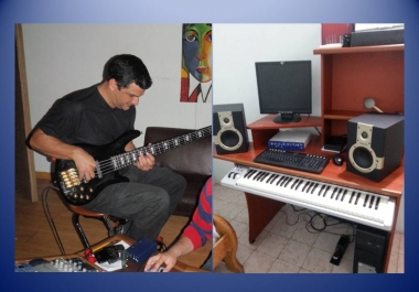 record 30 second of music on pro tools system (keyboard, guitar, bass, vocals) with professional sound
