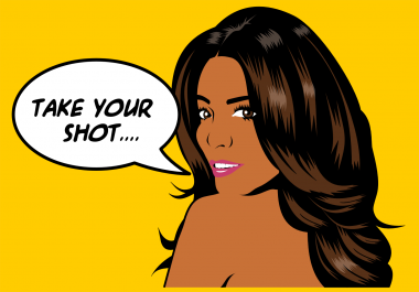 illustrate your photo in pop art style