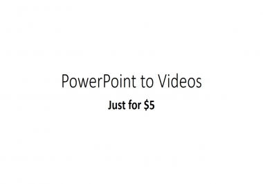 Convert your PowerPoint into high quality video