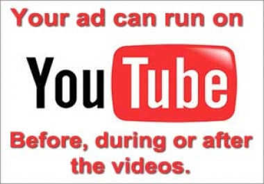 advertise your product or business on a YouTube video