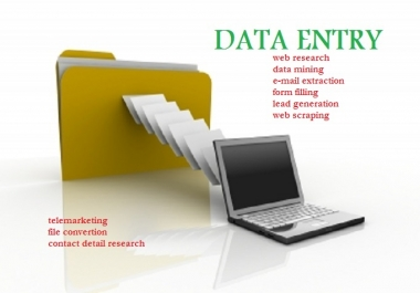 Do any kind of data entry work, 2 hours