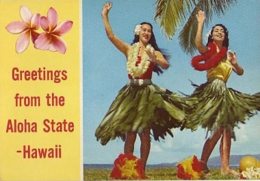 send a Hawaii themed postcard from Hawaii with your message to any US address