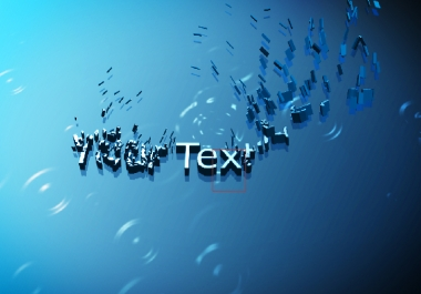 make a beautiful business intro video with After Effects in 3D for one phrase and your site
