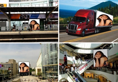 put your logo, banner or text on 2 outdoor advertisement billboards