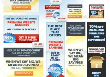 create a full set of professional banners