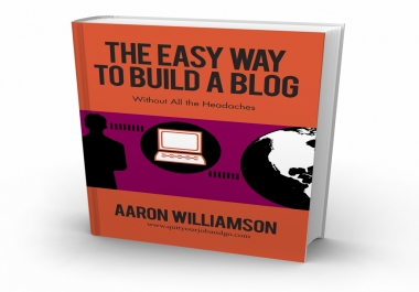 give you and ebook on setting up a blog the easy way, step by step
