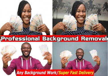 do any kind of photoshop editing and background removal professionally