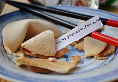 make fortune smile on you, with your own fortune cookie message
