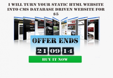 convert your static html site to a cms