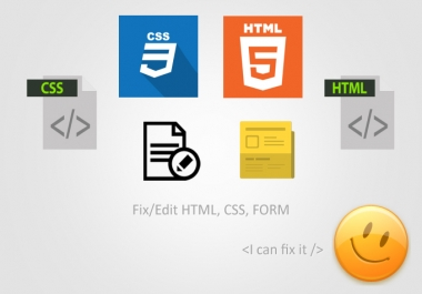 do any work related to css and html