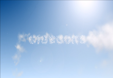 write your text on sky and jet stream reveal it
