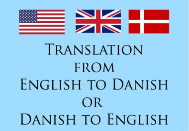 translate English to Danish