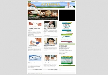 give you Asthma PLR Niche Blog