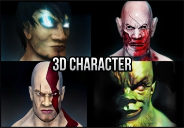 create 3d model for game or animation
