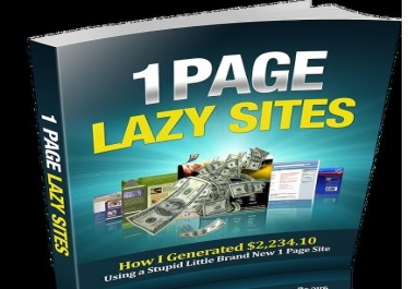 show you how to earn $2000+ using 1 page site only