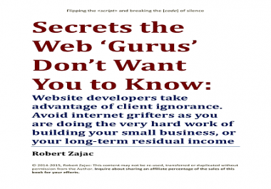 show you the secrets webmasters use to trick you into spending too much money for