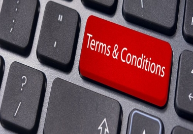 write a TERMS AND CONDITIONS page and a PRIVACY POLICY page [A MUST-HAVE for the protection for your website against abuse,infringements and to provide an overview of your site]