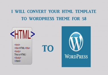 convert html template to wordpress theme