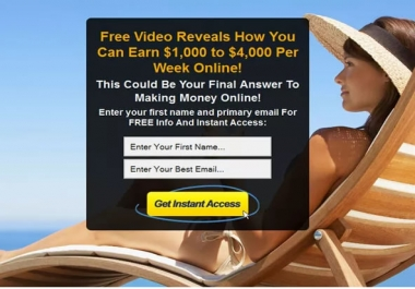 design High Converting Landing or Squeeze page for