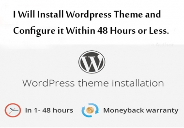 install and configure your wordpress theme