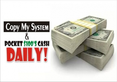 give you my New Method of making $100 every 60 minutes