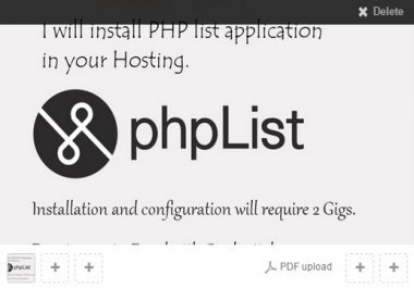 install PHPlist on your hosting