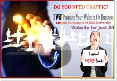 manually advertise your business to Top USA and European University Websites
