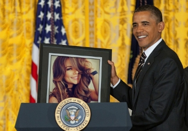 make Obama hold your picture!