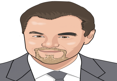 draw you realistic style cartoon caricature