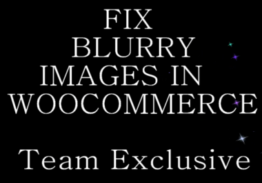fix blurry Product Images in WooCommerce