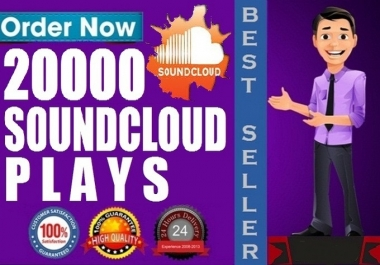 Give 20,000 Real SoundCloud Plays on your Track MAX 10 SPLIT