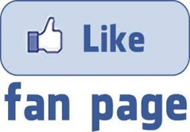 give you real 400 fb fan page like
