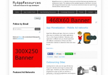 place your banner for a week on a site about app resources and tools for mobile app developers