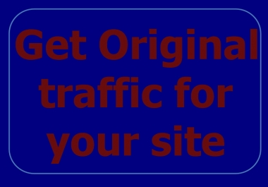 deliver ORIGINAL 10k traffick to your site for 30days