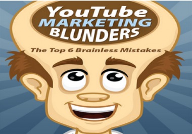 "Send you book link""YouTube Marketing Blunders"""