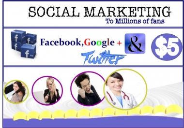 do a Huge Social Marketing Promotion to millions