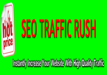 give you my seo traffic rush to instantly increase your website traffic