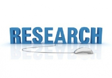 do 1hr indepth internet research for you
