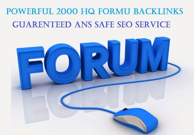Create 2000 High Quality Forum Backlinks Posts & Profiles