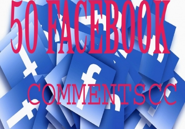 give You 50+ Custom Facebook Comments to your Photo,Post,Video,Status