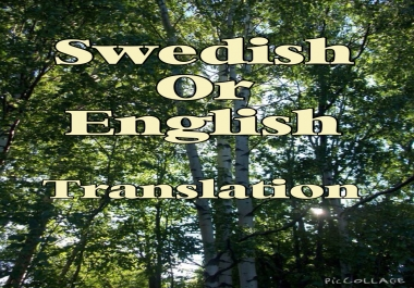 translate English to Swedish or vice versa