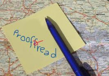 proofread any up to 2500 words post