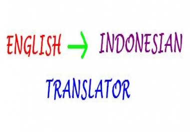 translate 6 pages English article to Bahasa Indonesia for $5