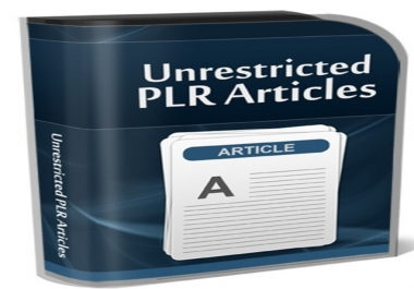 give you MRR 500 PLR Articles Pack 1