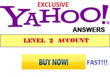 give you FOUR level 2 yahoo answer account