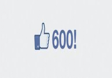 give you 600 fb fan page like only