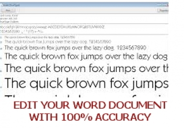 edit your word document,font or file (upon agreement)