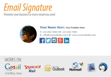 Create email HTML signature for your mail account