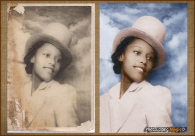 restore the old photos from your family chest